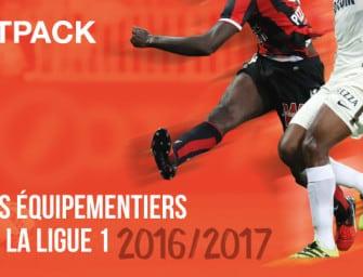 Infographie : les équipementiers de la Ligue 1 (Saison 2016/2017)