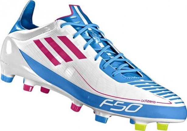 chaussures-adidas-adizero-f50-blanc-bleu-img1