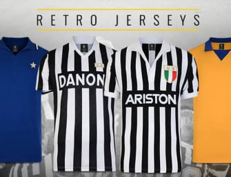 La Juventus Turin dévoile 6 maillots rétro