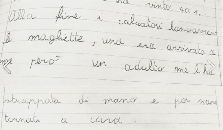 lettre enfant udinese maillot volé