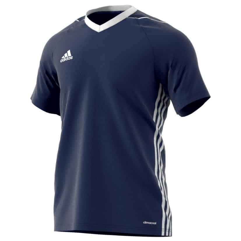 maillot-football-adidas-tiro-17-teamwear-bleu-foncé
