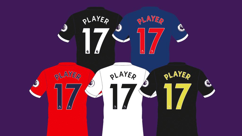 nouveau flocage premier league 2017-2018