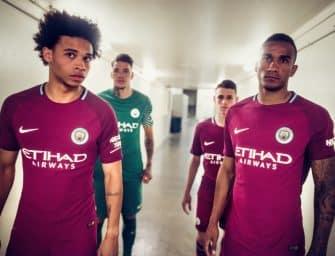 Les maillots de Manchester City pour la saison 2017-2018