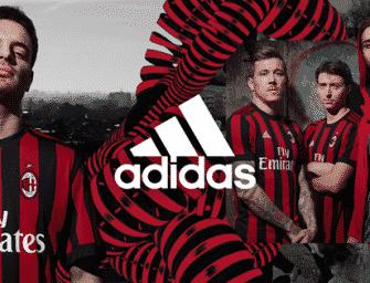 Les maillots de l'AC Milan pour la saison 2017-2018
