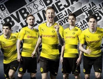 Les maillots du Borussia Dortmund pour la saison 2017-2018