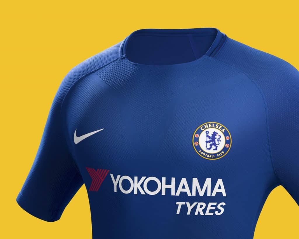 Les maillots 2017 2018 de chelsea sign s nike footpack for Maillot chelsea exterieur 2017