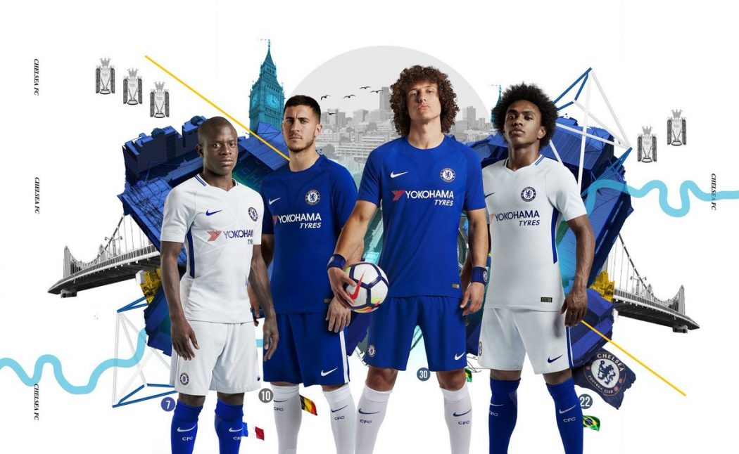 Les Maillots 2017 2018 De Chelsea Sign S Nike Footpack