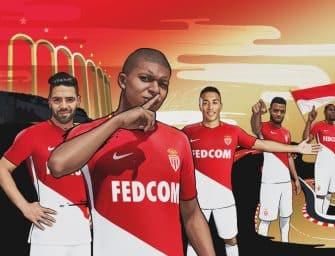 Les maillots 2017/2018 de l'AS Monaco
