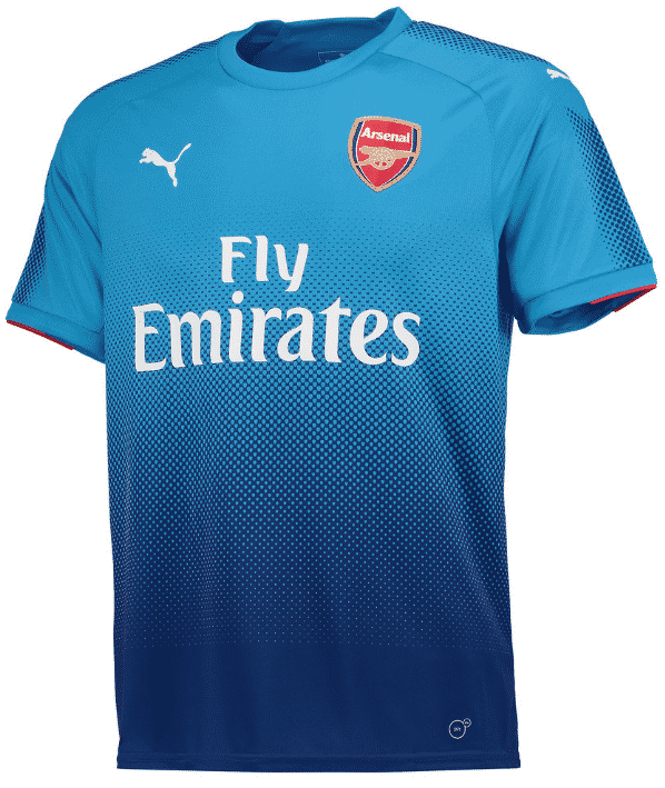 Tous les maillots 2017 2018 de la premier league for Maillot arsenal exterieur