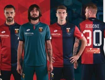 Le Genoa dévoile ses maillots pour 2017-2018