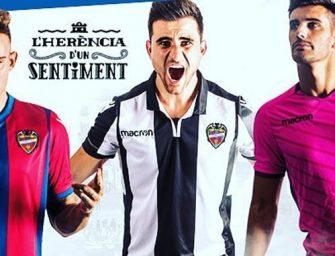 Les maillots Macron de Levante pour la saison 2017-2018