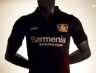 Les maillots du Bayer Leverkusen pour la saison 2017/2018 par Jako