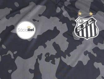Kappa opte pour un maillot third «Camouflage» pour le Santos FC