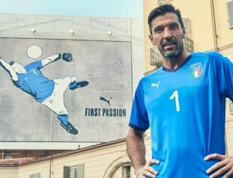 Buffon dévoile le nouveau maillot de l'Italie par Puma