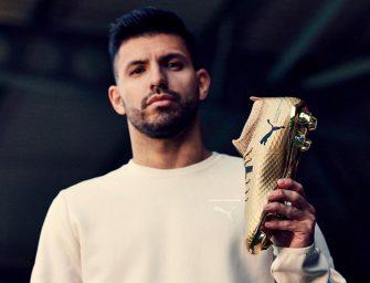 Kun Agüero portera une Puma One dorée face à Arsenal pour célébrer son record