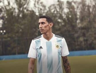 Les maillots de l'Argentine et les chaussures des 23 joueurs pour la Coupe du monde 2018