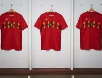 Les maillots de la Belgique et les chaussures des 23 joueurs pour la Coupe du monde 2018