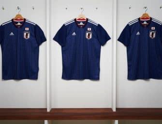 Les maillots du Japon et les chaussures des 23 joueurs pour la Coupe du monde 2018