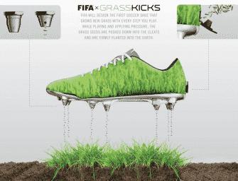 Grass Kicks : les chaussures de foot révolutionnaires qui vont prendre soin des pelouses !