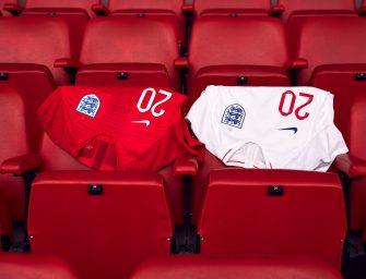 Les maillots de l'Angleterre et les chaussures des 23 joueurs pour la Coupe du monde 2018
