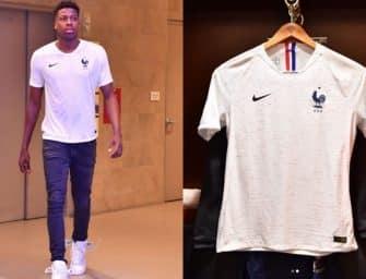 Le nouveau maillot extérieur de l'équipe de France dévoilé par le basketteur Frank Ntilikina ?