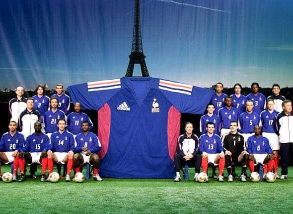 40 ans de maillots de l 39 quipe de france en coupe du monde - Equipe de france coupe du monde 2002 ...