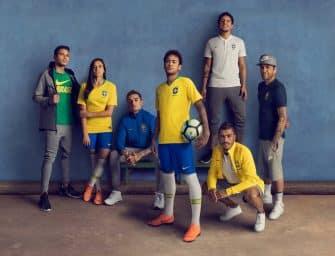 Les maillots du Brésil et les chaussures des 23 joueurs pour la Coupe du monde 2018