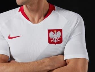 Nike présente les maillots de la Pologne pour la Coupe du Monde 2018