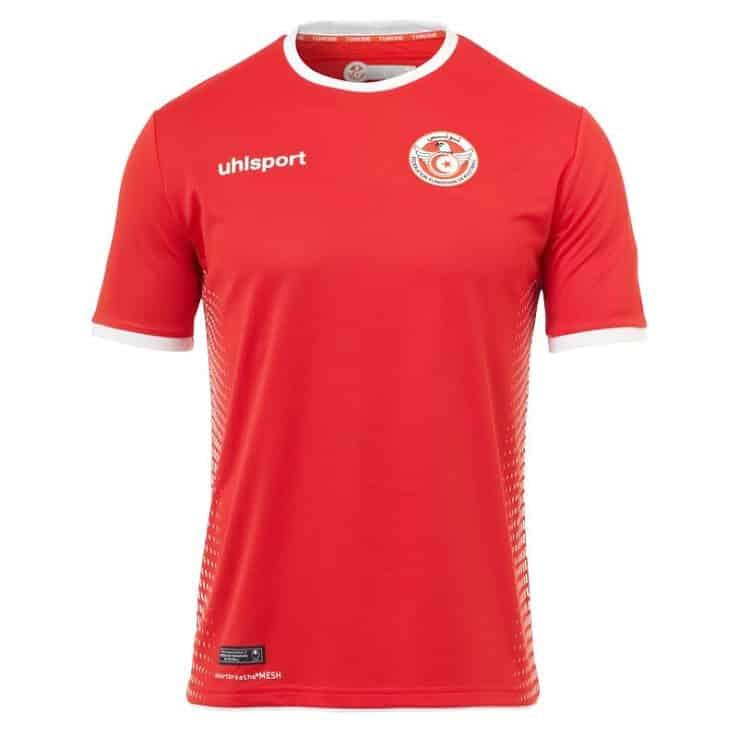 Uhlsport pr sente les maillots de la tunisie pour la coupe for Maillot inter exterieur
