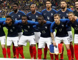 Les chaussures des 23 bleus sélectionnés pour la Coupe du Monde