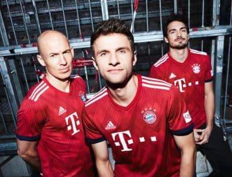 adidas et le Bayern Munich dévoilent les maillots 2018-2019