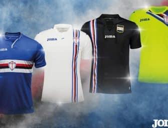 Joma dévoile les maillots 2018-2019 de la Sampdoria de Gênes