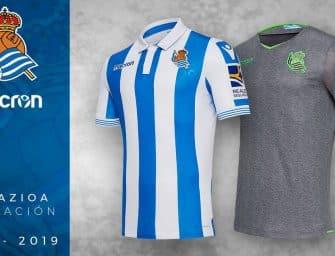 Macron et la Real Sociedad dévoilent les maillots pour la saison 2018-2019