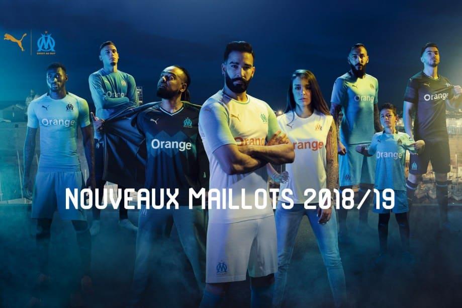 Les maillots Puma 2018-2019 de l'OM dévoilés et ça claque !