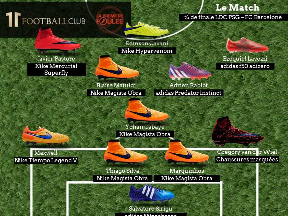 compos-chaussures-foot-psg-barcelone-ldc