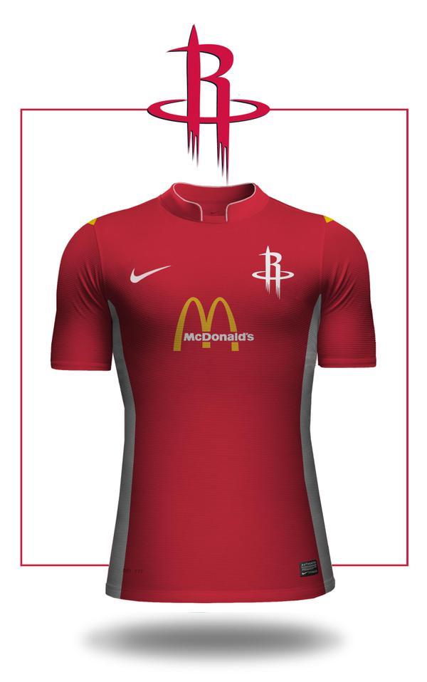 Et si c'était le futur de la NBA ? Et si la NBA adoptait le style maillot de football ? Emilio Sansolini, s'est amusé à imaginer ce que cela donnerait.