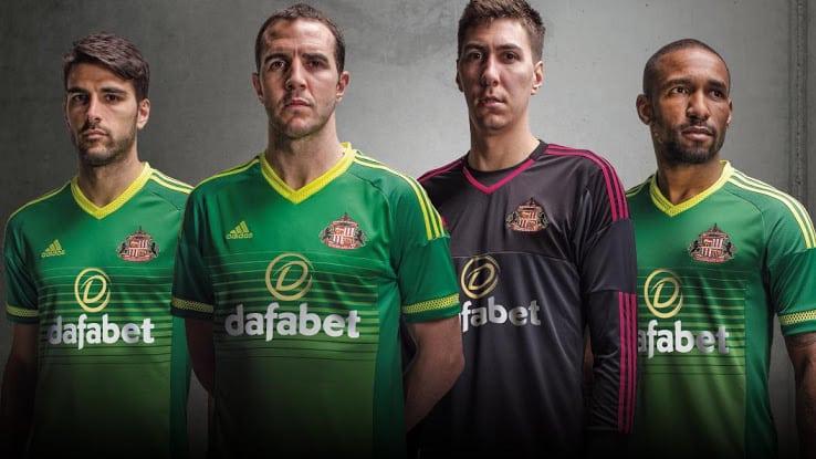 Maillot extérieur Sunderland 2015-2016