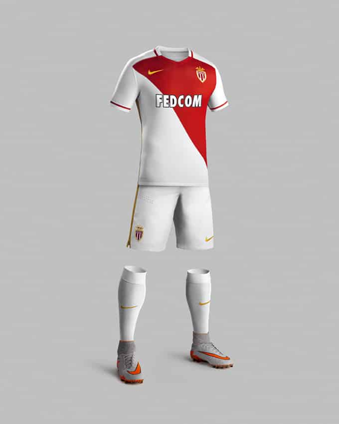 3ème de Ligue 1 l'année dernière, l'AS Monaco rempile pour une nouvelle saison et présente son nouveau maillot domicile 2015-2016, un maillot signé Nike.