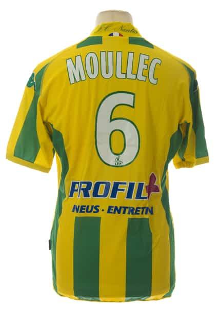 maillot-fc-nantes-guillaume-moullec-saison-2009-2010-dos