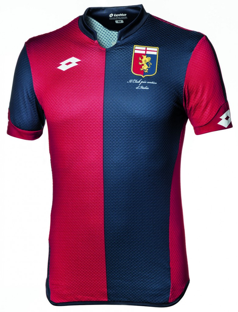 Equipé par Lotto, le Genoa vient de dévoiler ses nouveaux maillots domicile, extérieur et third pour la saison 2015-2016.