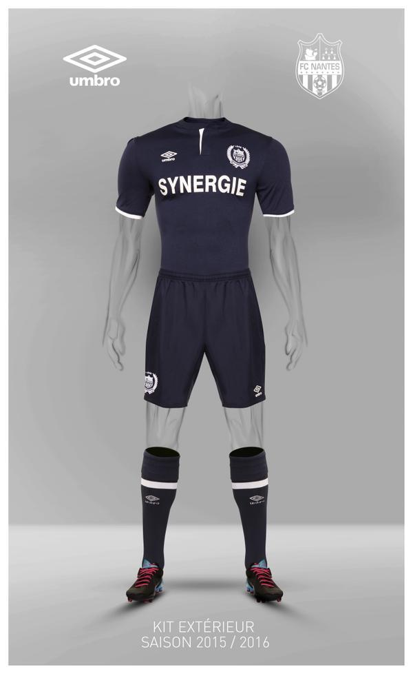 Découvrez les nouveaux maillots domicile et extérieur du Football Club de Nantes (FC Nantes) pour la saison 2015-2016.