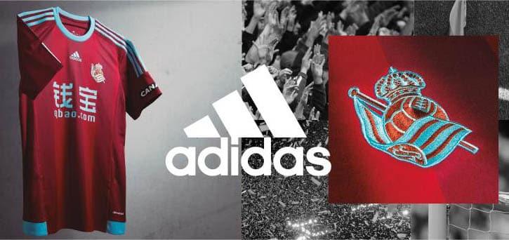 12ème du dernier championnat d'Espagne, la Real Sociedad et son équipementier adidas viennent de dévoiler les nouveaux maillots du club pour 2015-2016