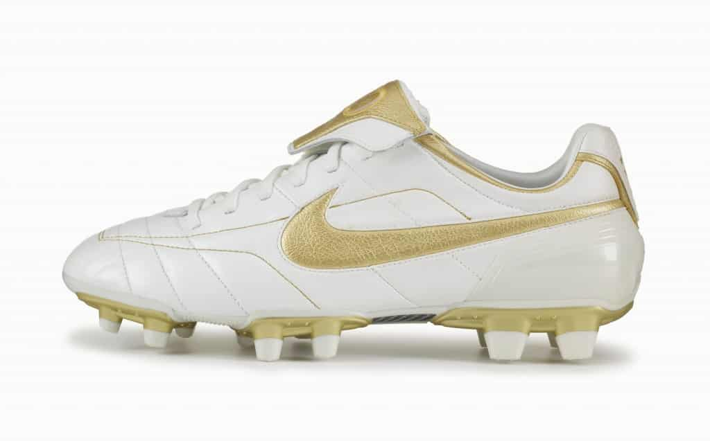 """Nike Air Tiempo """"Touch of Gold"""" édition 2005"""