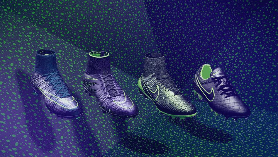 En ce mois de septembre transitoire, Nike dévoile un nouveau pack, l'Eletro Flare avec ses 4 modèles, Hypervenom, Mercurial, Tiempo et Magista.