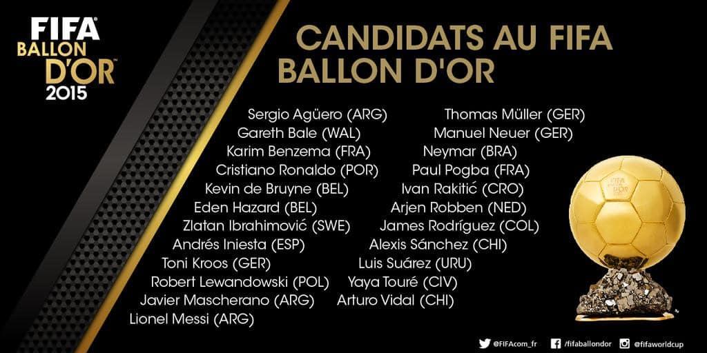 Foot De Ballon Des Les D'or 23 Au Candidats Chaussures KTl31cJF
