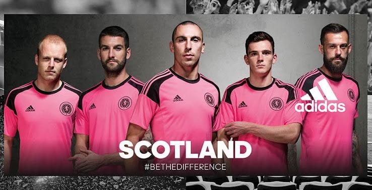 Non qualifiés pour le championnat d'Europe des Nations, l'Ecosse vient malgré tout de dévoiler ses nouveaux maillots pour 2016, signés adidas