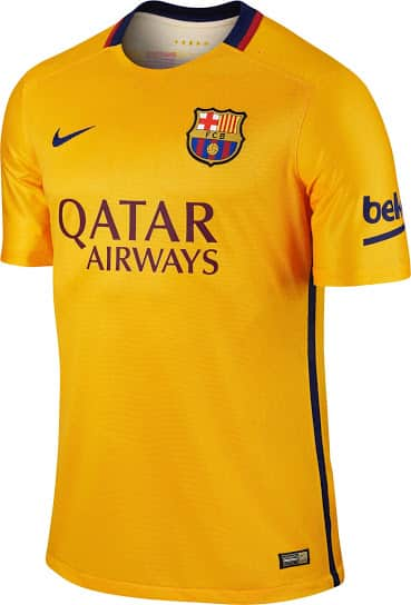 Pour la première fois de son histoire le maillot domicile du Barça qui sera utilisé pour la saison 2015-2016 aura des bandes horizontales ! Une révolution.
