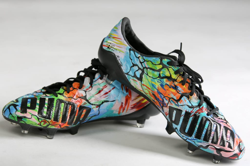 chaussure-football-puma-evoSPEED-SL-Hector-Bellerin-personnalisees-3