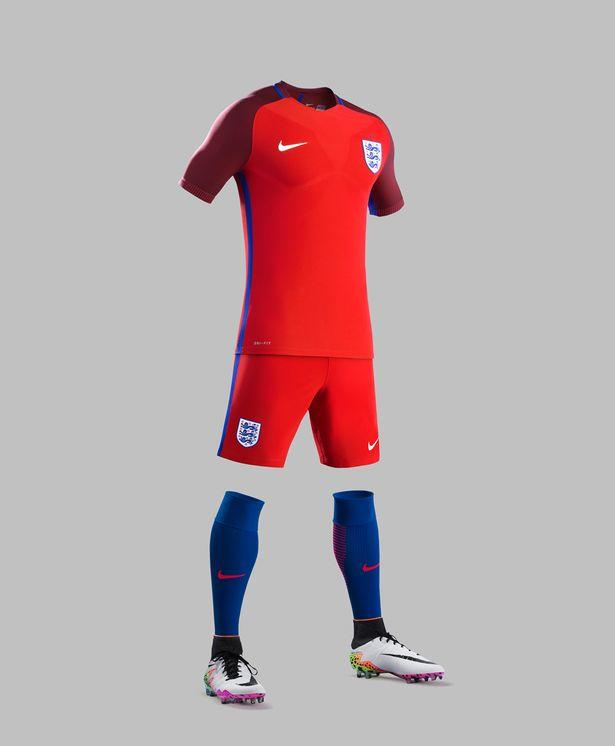 Maillot Angleterre Euro 2016 Exterieur