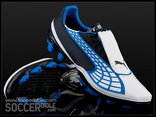 chaussure-football-Puma-v1.10-blanc-bleu-noir